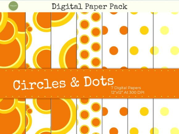 Print on Demand: Yellow Circles and Polka Dots Paper Pack Graphic Backgrounds By Gifted Tribe Compositions