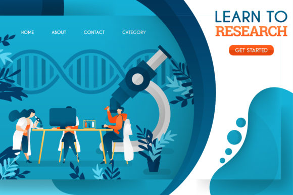 Download Free Banner Of Doctors Are Studying Research Graphic By for Cricut Explore, Silhouette and other cutting machines.
