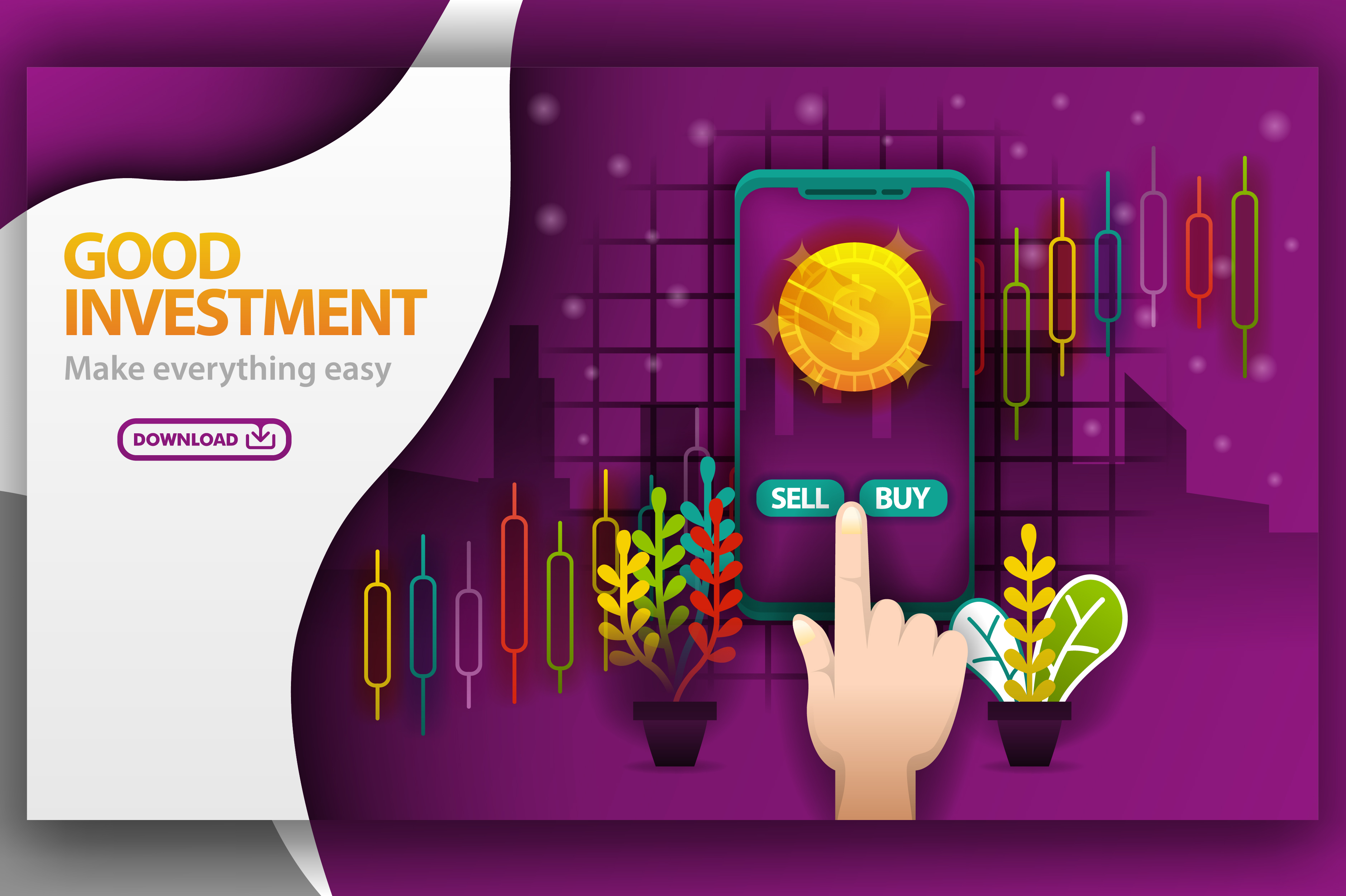 Illustration Of Good Investment Theme Graphic By