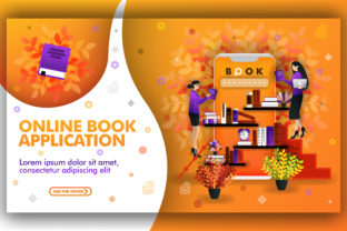 Download Free Illustration Of Online Book Apps Graphic By Setiawanarief111 for Cricut Explore, Silhouette and other cutting machines.