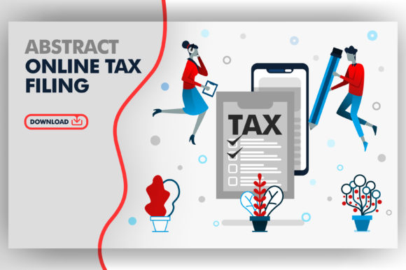 Download Free Illustration Of Online Tax Filing Graphic By Setiawanarief111 for Cricut Explore, Silhouette and other cutting machines.