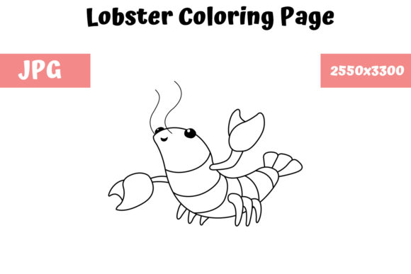 Print on Demand: Lobster Coloring Book Page for Kids Graphic Coloring Pages & Books Kids By MyBeautifulFiles