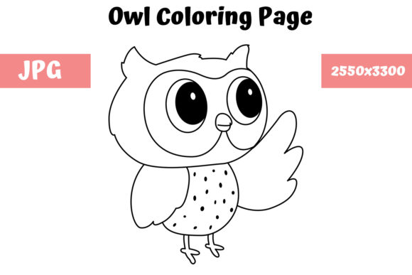 Print on Demand: Owl Coloring Book Page for Kids Graphic Coloring Pages & Books Kids By MyBeautifulFiles
