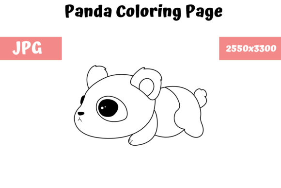 Print on Demand: Panda Coloring Book Page for Kids Graphic Coloring Pages & Books Kids By MyBeautifulFiles - Image 1