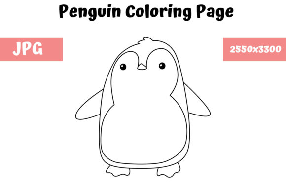 Print on Demand: Penguin Coloring Book Page for Kids Graphic Coloring Pages & Books Kids By MyBeautifulFiles