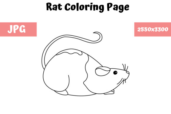 Print on Demand: Rat Coloring Book Page for Kids Graphic Coloring Pages & Books Kids By MyBeautifulFiles - Image 1
