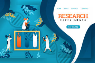 Download Free Research Experiment And Health Banner Graphic By for Cricut Explore, Silhouette and other cutting machines.