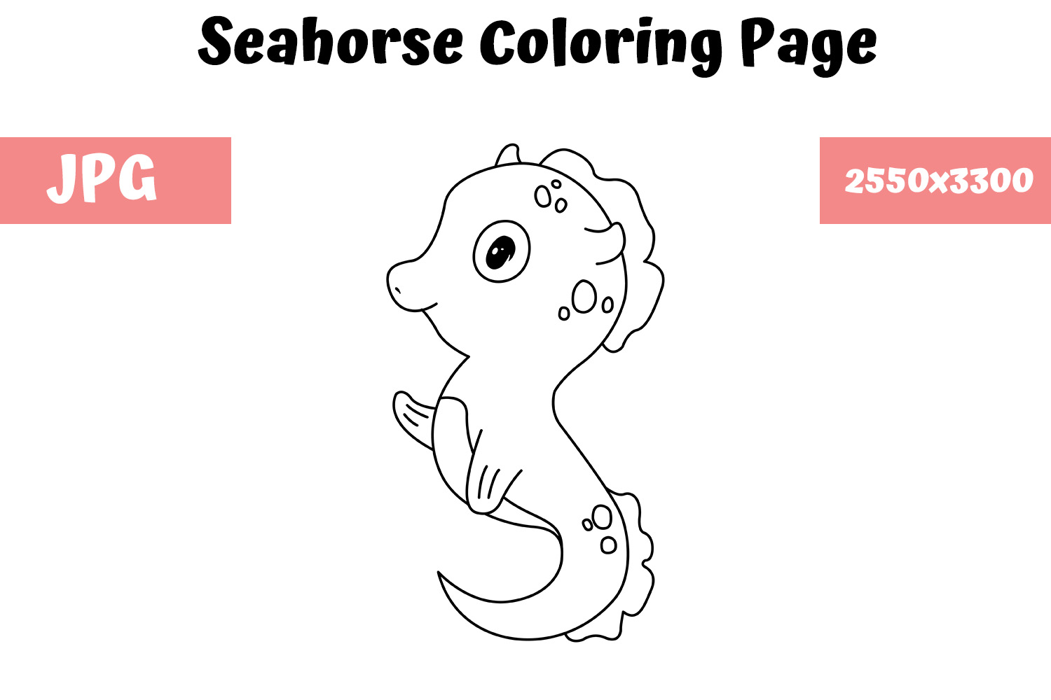 Seahorse Coloring Book Page For Kids Graphic By Mybeautifulfiles Creative Fabrica