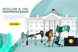 Download Free Template Of Dollar And Oil For Economy Graphic By for Cricut Explore, Silhouette and other cutting machines.