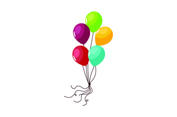 Balloons Birthday Craft Cut File By Creative Fabrica Crafts