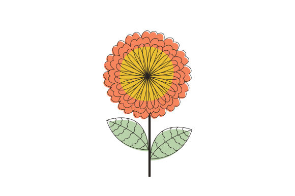 Mid Century Floral Design Designs & Drawings Craft Cut File By Creative Fabrica Crafts