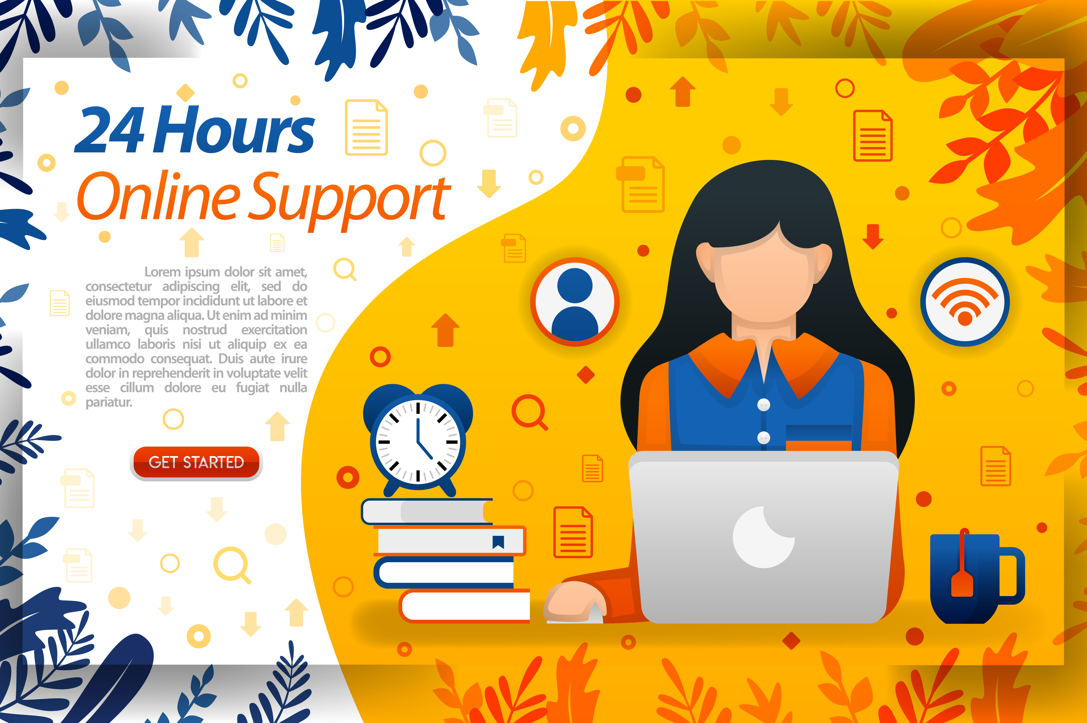 Download Free 24 Hours Online Customer Service Graphic By Setiawanarief111 for Cricut Explore, Silhouette and other cutting machines.