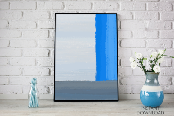 Download Free Abstract Blue Lines Printable Wall Art Graphic By Artsbynaty for Cricut Explore, Silhouette and other cutting machines.