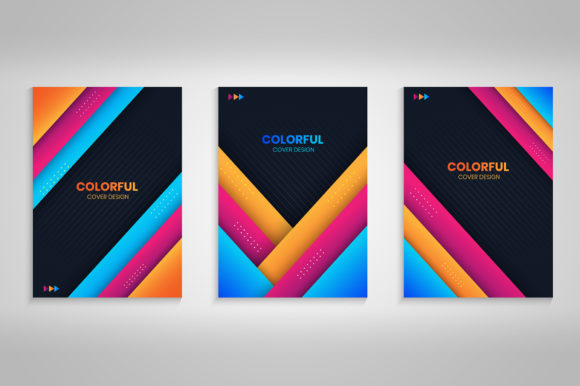 Abstract Cover Collection with Colorful Graphic Backgrounds By medelwardi