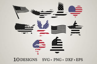 Amercian Flag Graphic Crafts By Euphoria Design