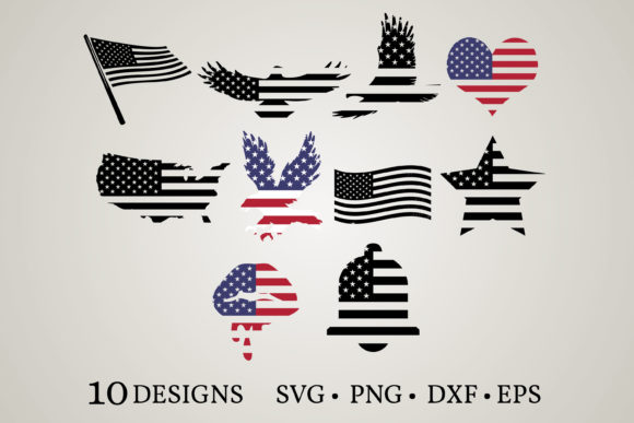 Amercian Flag Graphic Print Templates By Euphoria Design