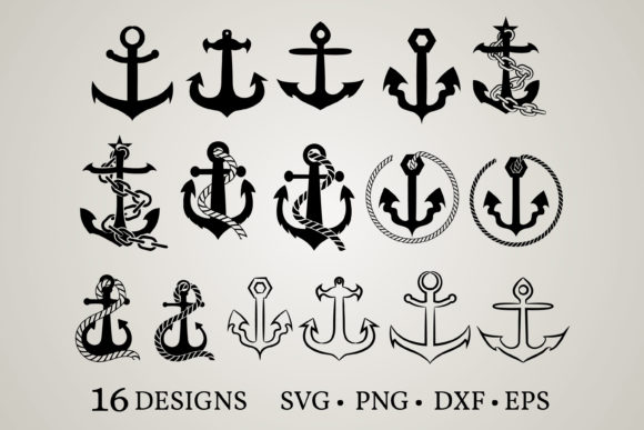 Download Free Anchor Bundle Graphic By Euphoria Design Creative Fabrica for Cricut Explore, Silhouette and other cutting machines.