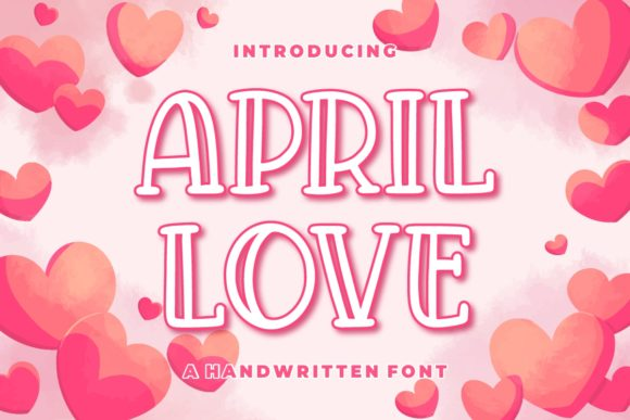 Print on Demand: April Love Display Font By goodjavastudio