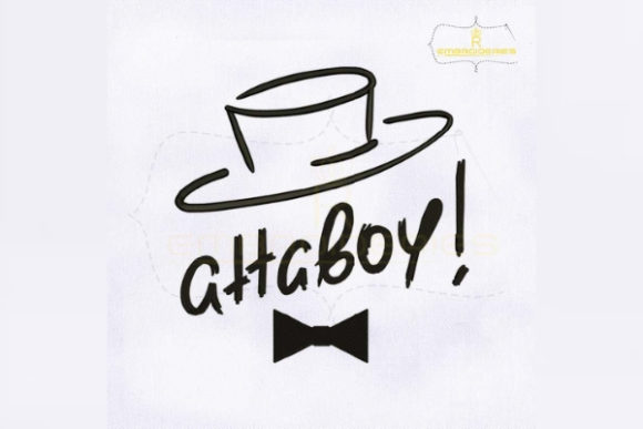 Atta Boy Cap Outline Bachelor Embroidery Design By RoyalEmbroideries