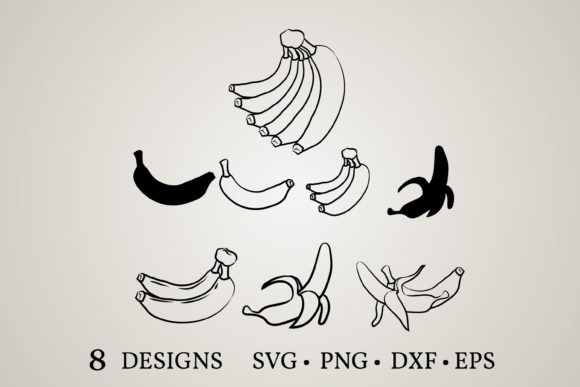 Download Free Banana Bundle Graphic By Euphoria Design Creative Fabrica for Cricut Explore, Silhouette and other cutting machines.