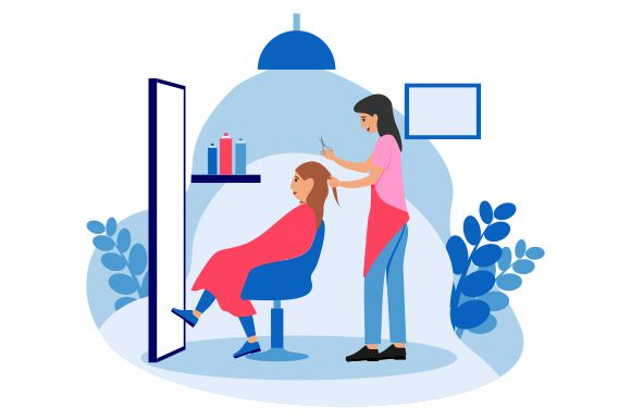Download Free Beauty Salon Concept Flat Style Graphic By Redvy Creative for Cricut Explore, Silhouette and other cutting machines.