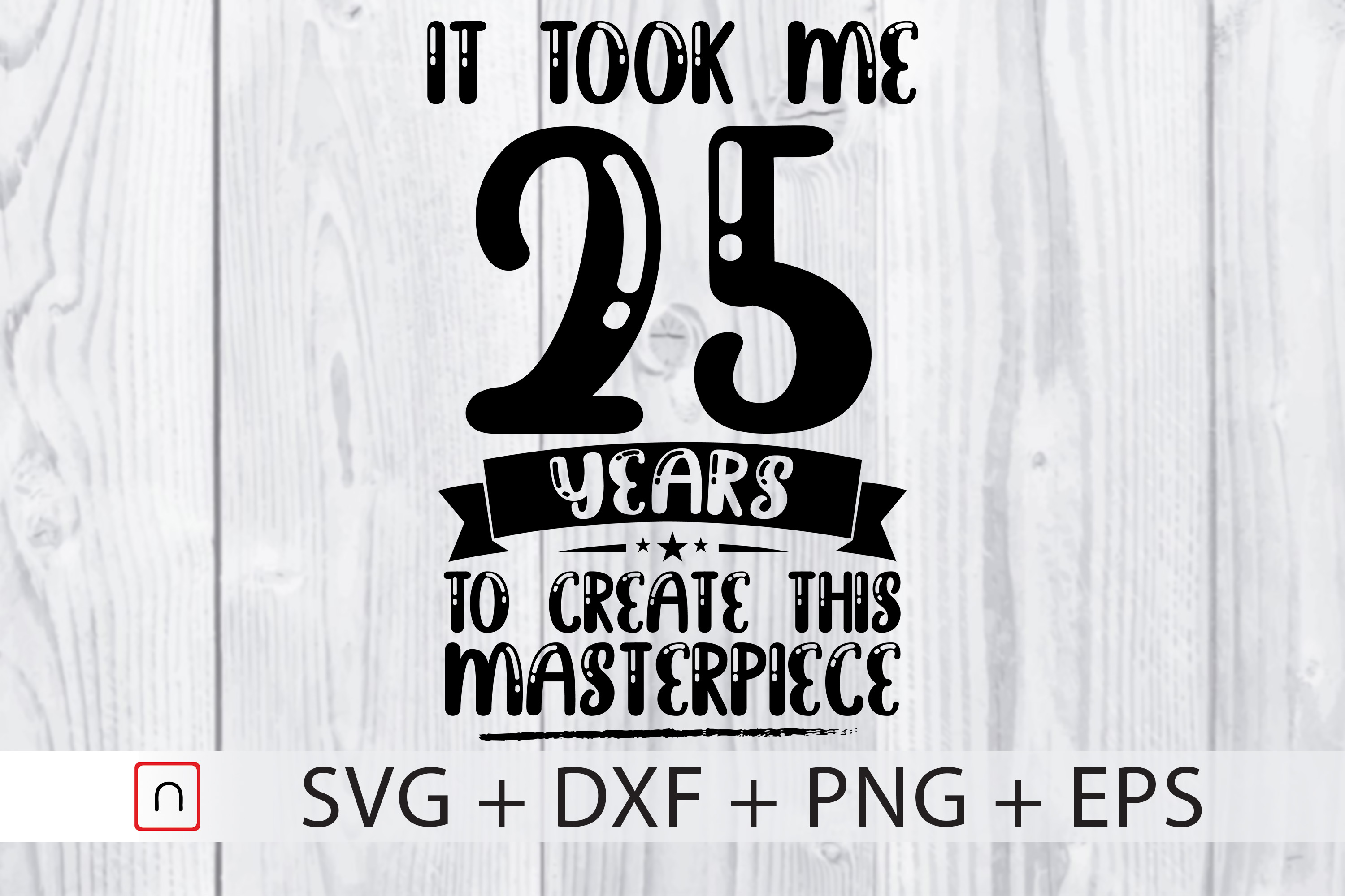 Download Free Birthday 25 Years Old Graphic By Novalia Creative Fabrica for Cricut Explore, Silhouette and other cutting machines.