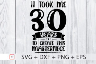 Download Free Birthday 30 Years Old Graphic By Novalia Creative Fabrica for Cricut Explore, Silhouette and other cutting machines.