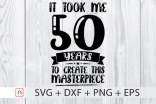 Download Free Birthday 50 Years Old Graphic By Novalia Creative Fabrica for Cricut Explore, Silhouette and other cutting machines.
