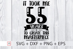 Download Free Birthday 55 Years Old Graphic By Novalia Creative Fabrica for Cricut Explore, Silhouette and other cutting machines.