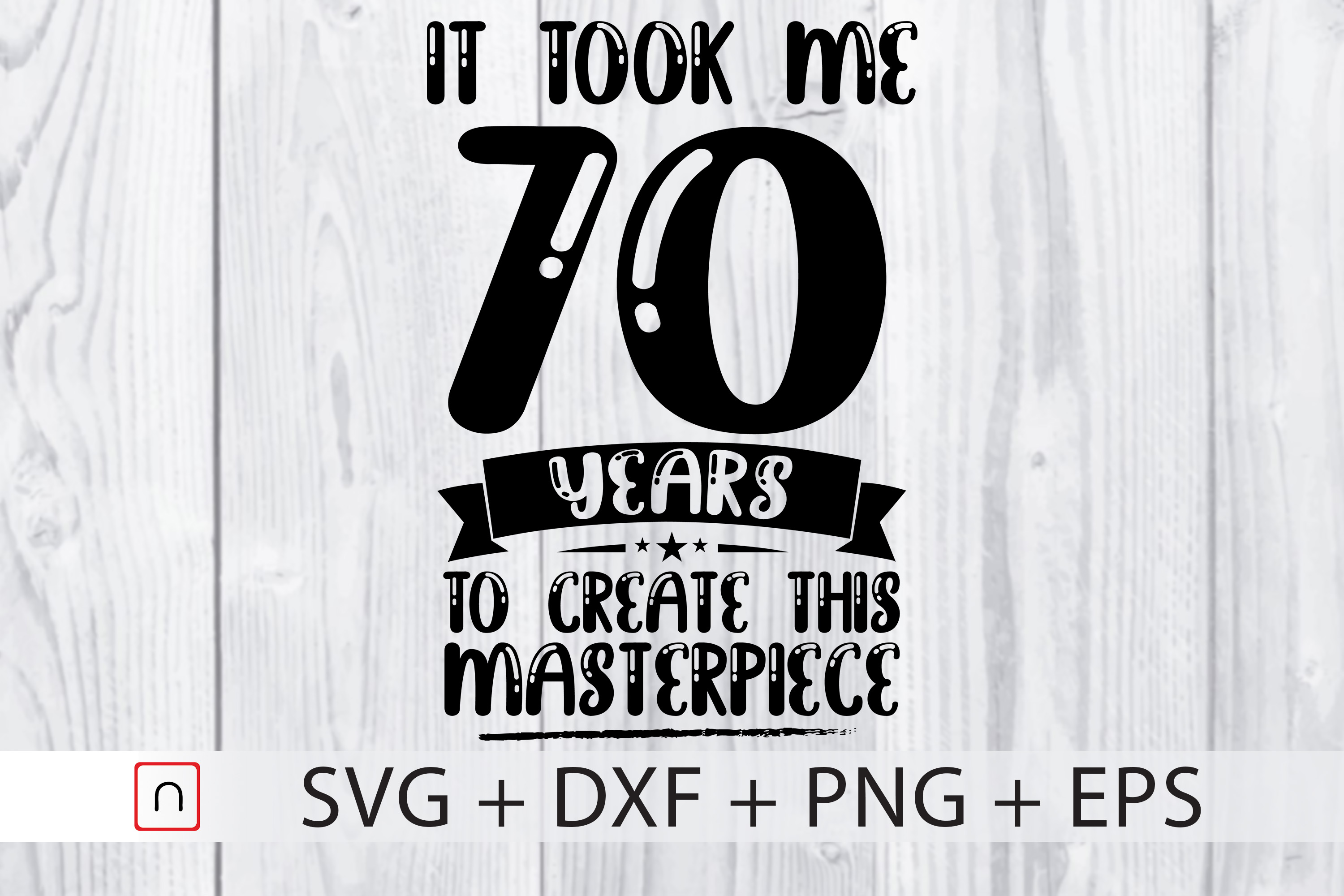 Download Free Birthday 70 Years Old Graphic By Novalia Creative Fabrica for Cricut Explore, Silhouette and other cutting machines.