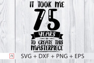 Download Free Birthday 75 Years Old Graphic By Novalia Creative Fabrica for Cricut Explore, Silhouette and other cutting machines.