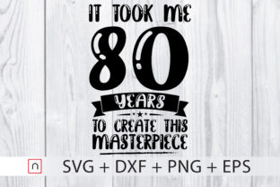 Download Free Birthday 80 Years Old Graphic By Novalia Creative Fabrica for Cricut Explore, Silhouette and other cutting machines.