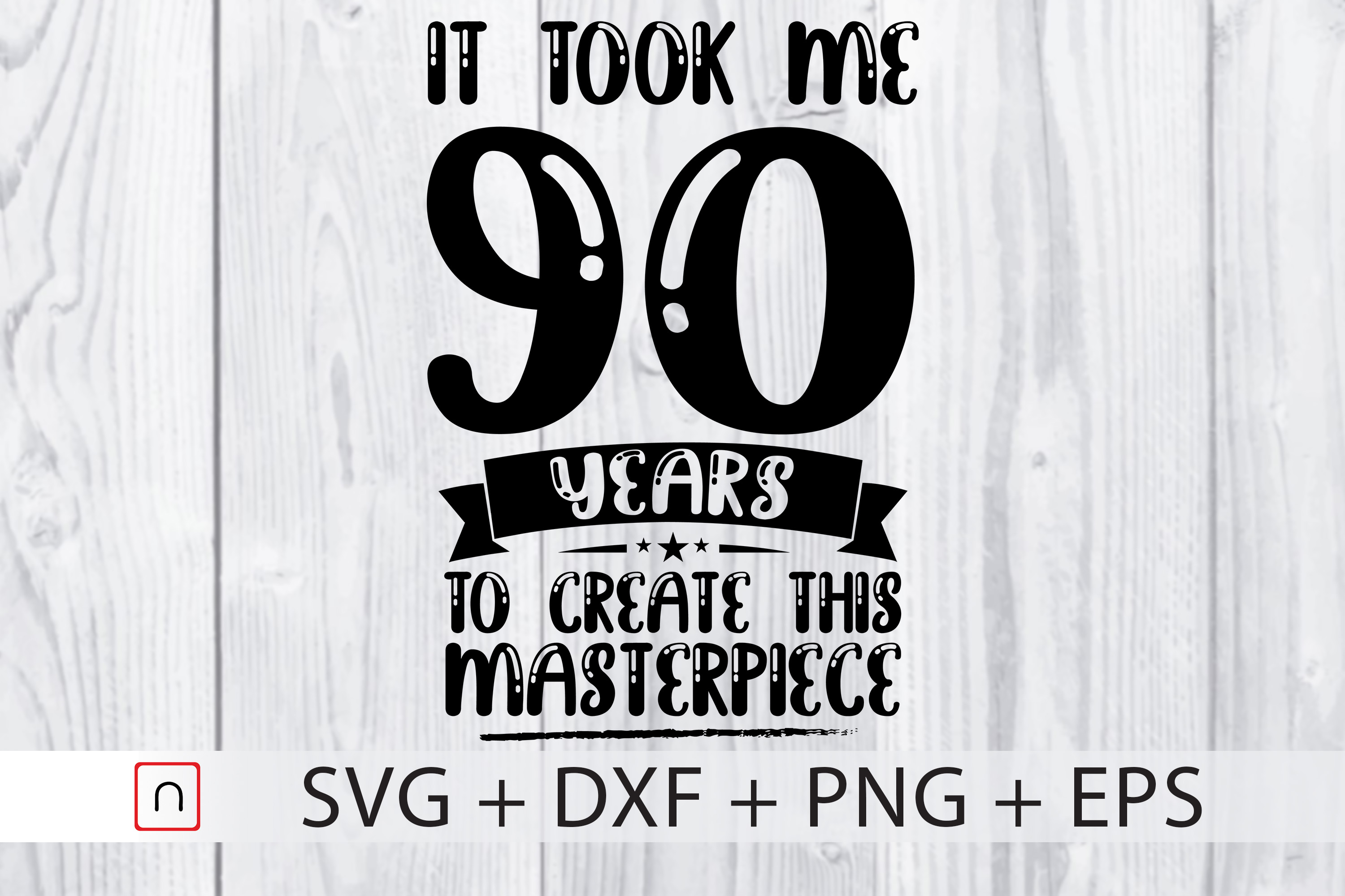 Download Free Birthday 90 Years Old Graphic By Novalia Creative Fabrica for Cricut Explore, Silhouette and other cutting machines.