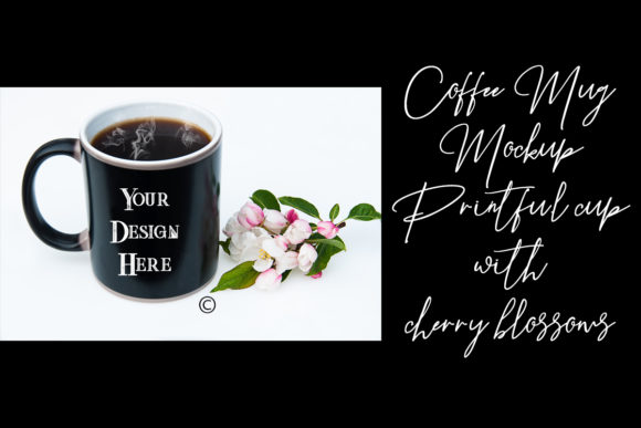 Download Free Black Coffee Mug Mockup Printful Cup Graphic By A Design In Time for Cricut Explore, Silhouette and other cutting machines.