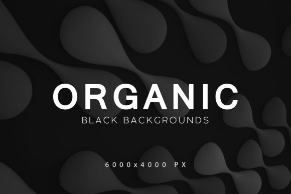 Print on Demand: Black Organic Backgrounds 3 Graphic Backgrounds By ArtistMef