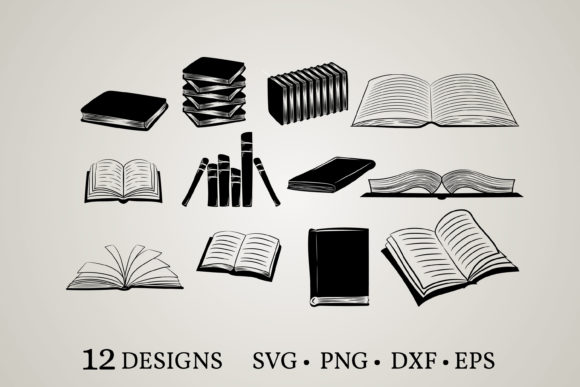 Book Vector Bundle Grafik Druck-Templates von Euphoria Design