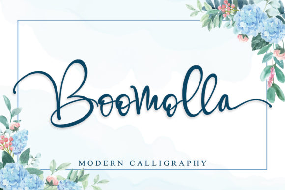 Print on Demand: Boomolla Script & Handwritten Font By Stefani Letter - Image 1