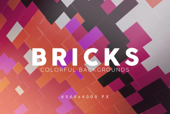 Print on Demand: Bricks Tech Backgrounds 2 Graphic Backgrounds By ArtistMef