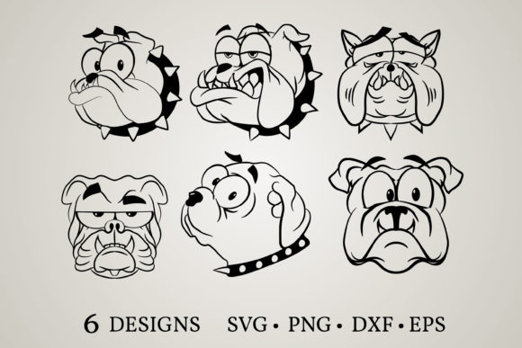Bulldog Bundle Grafik Plotterdateien von Euphoria Design