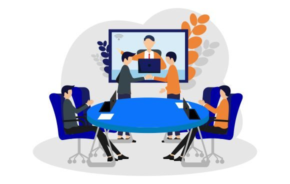 Download Free Business Video Conference In Boradroom Graphic By Redvy Creative for Cricut Explore, Silhouette and other cutting machines.