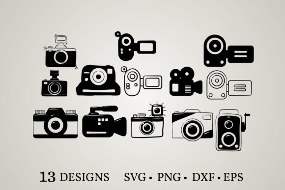 Camera Bundle Grafik Druck-Templates von Euphoria Design