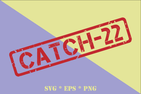 Download Free Catch 22 Transparent Rubber Stamp Graphic By Graphicsfarm for Cricut Explore, Silhouette and other cutting machines.