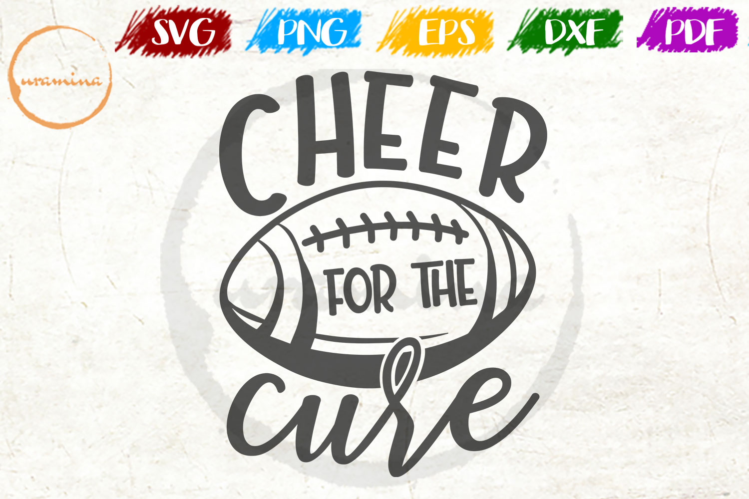 Download Free Cheer For The Cure Graphic By Uramina Creative Fabrica for Cricut Explore, Silhouette and other cutting machines.
