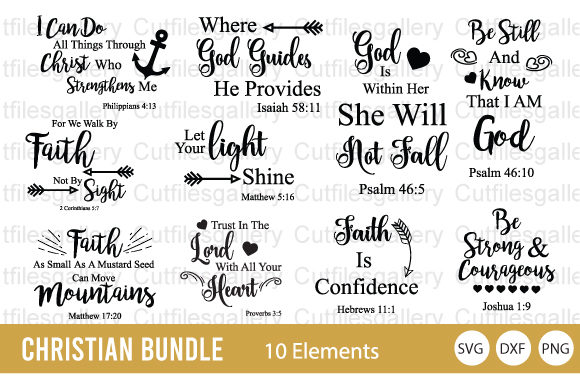 Download Free Christian Religious Bundle Graphic By Cutfilesgallery Creative for Cricut Explore, Silhouette and other cutting machines.
