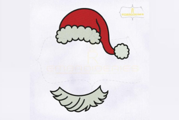 Download Free Christmas Monogram Santa Hat Creative Fabrica for Cricut Explore, Silhouette and other cutting machines.