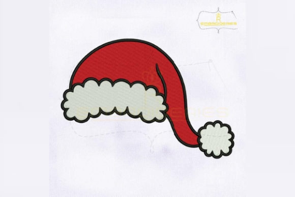 Christmas Santa Hat Christmas Embroidery Design By RoyalEmbroideries