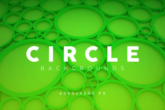 Print on Demand: Circle Abstract Backgrounds Graphic Backgrounds By ArtistMef