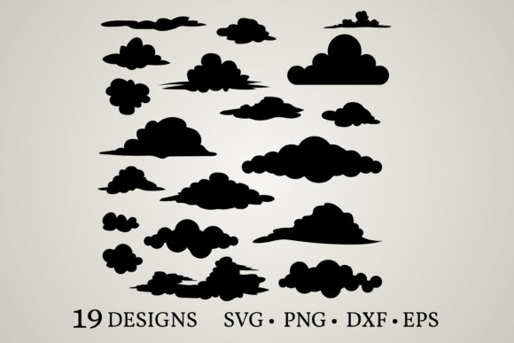 Cloud Bundle Graphic Print Templates By Euphoria Design