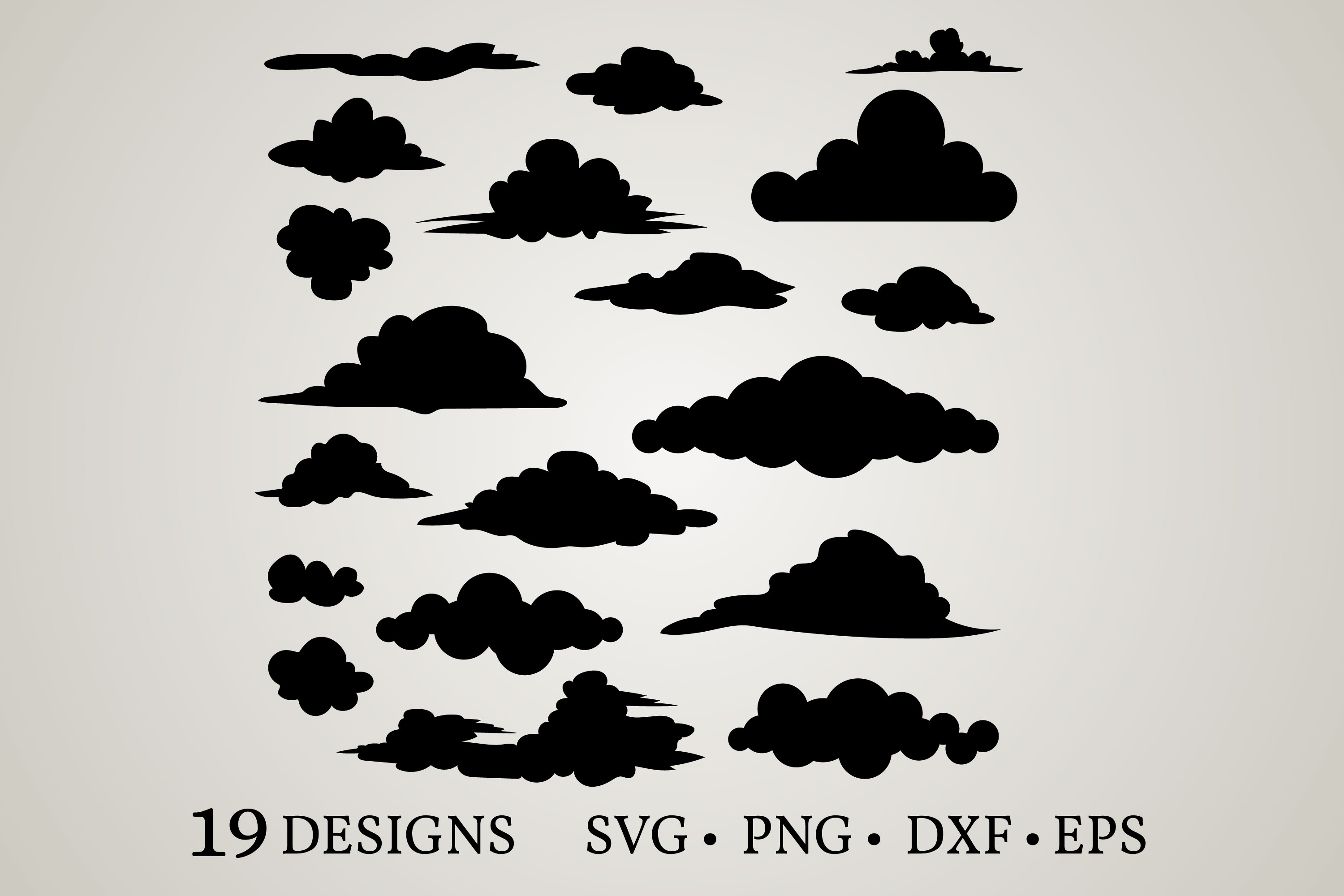 Download Free Cloud Bundle Graphic By Euphoria Design Creative Fabrica for Cricut Explore, Silhouette and other cutting machines.