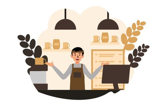 Coffee Bar Barista Vector Flat Graphic Illustrations By Redvy Creative